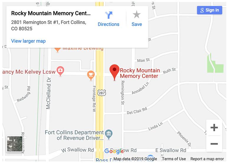 rocky mountain memory center google maps screenshot